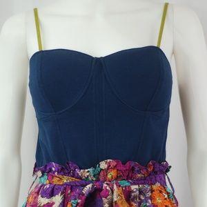 NWT Denim & Floral Dress Sz S
